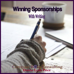 sponsorships and writing